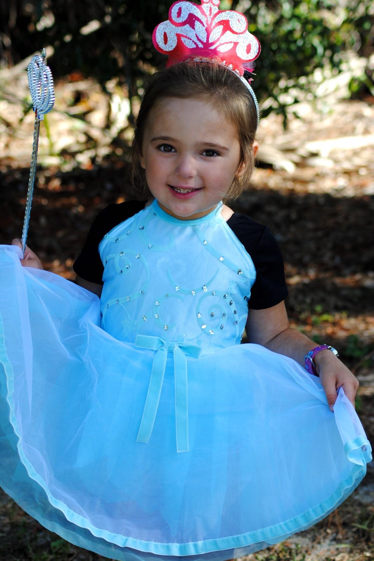 Little girl in princess costume